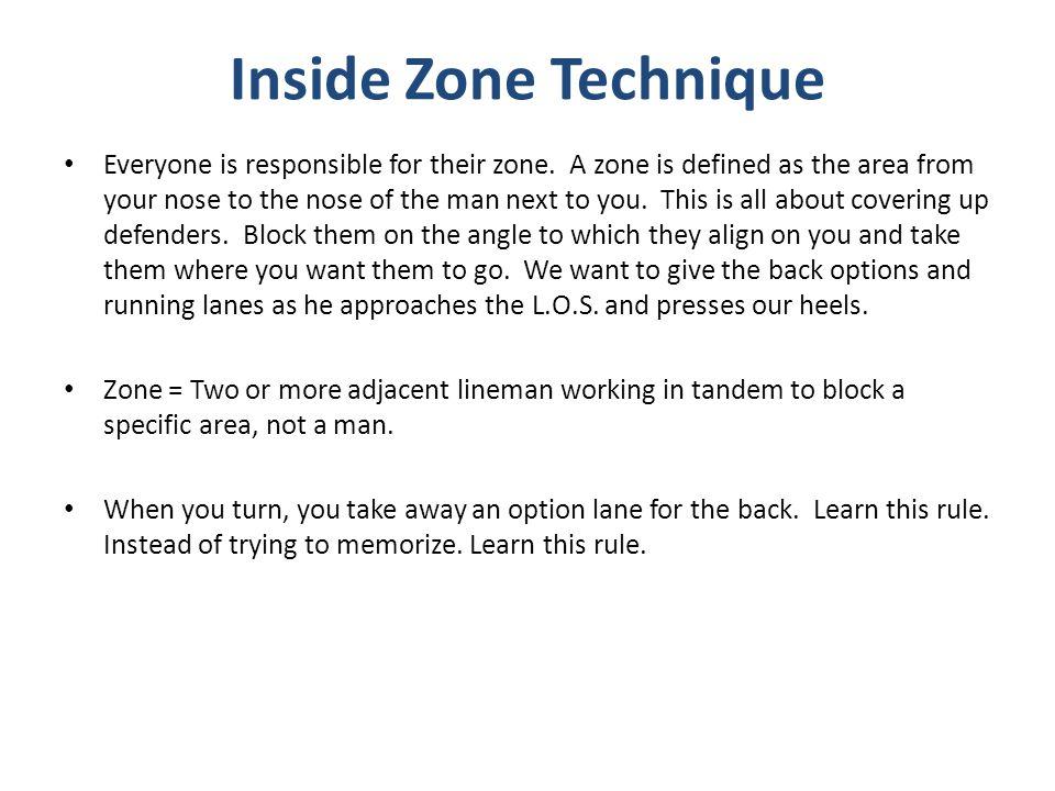 Inside Zone Technique