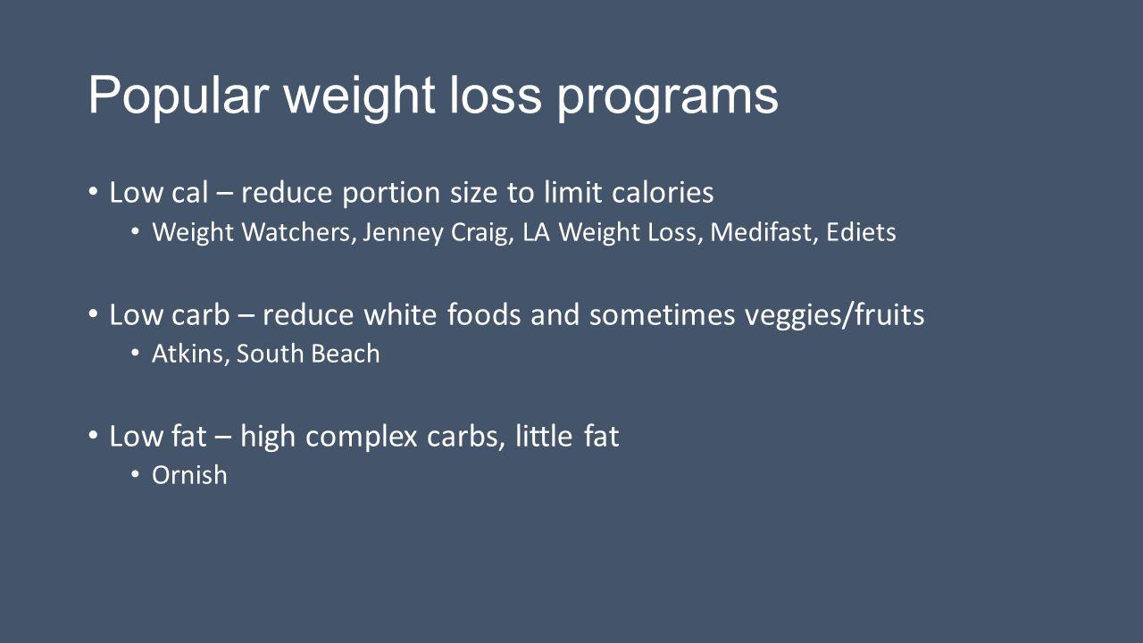 Popular weight loss programs