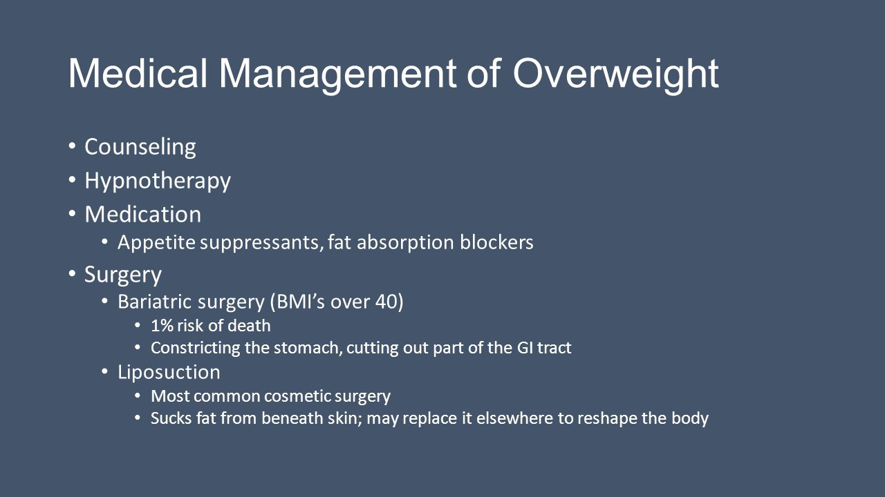 Medical Management of Overweight