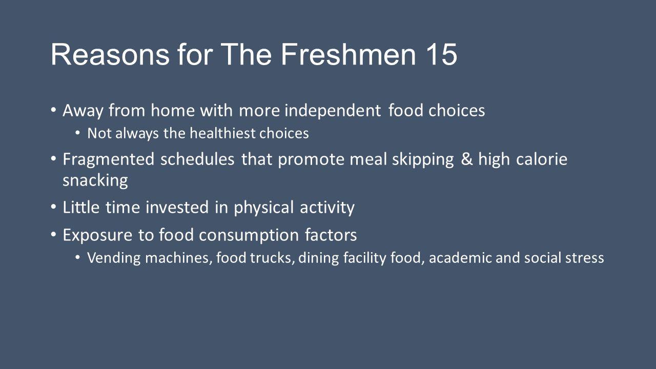 Reasons for The Freshmen 15