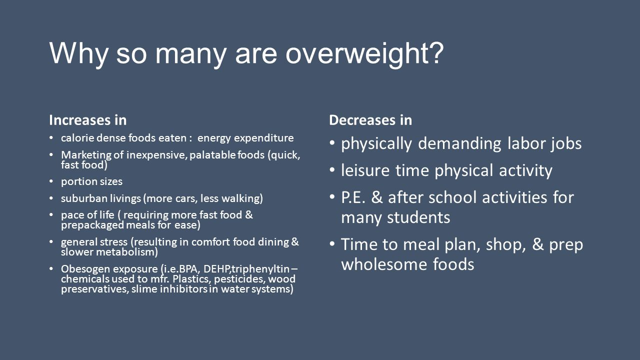 Why so many are overweight