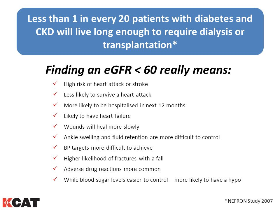 Finding an eGFR < 60 really means: