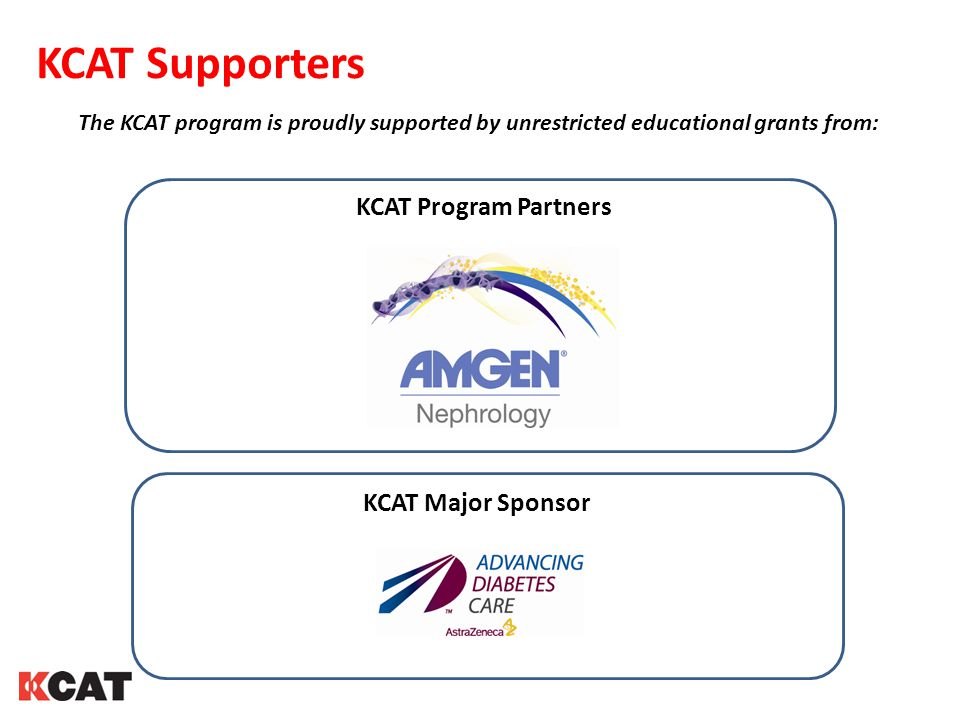 KCAT Supporters KCAT Program Partners KCAT Major Sponsor
