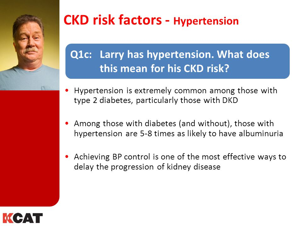 CKD risk factors - Hypertension