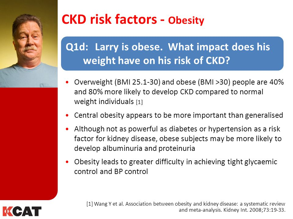 CKD risk factors - Obesity
