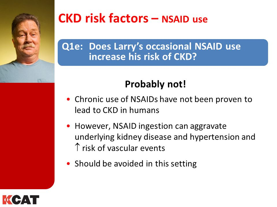 CKD risk factors – NSAID use