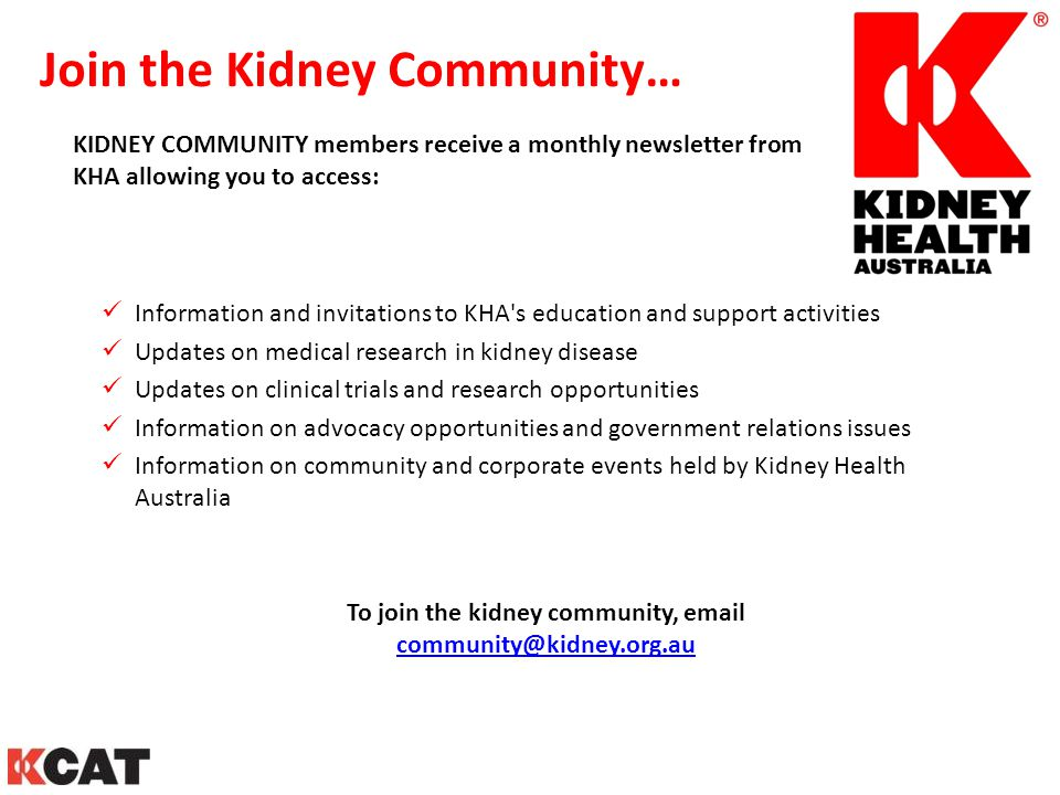 Join the Kidney Community…