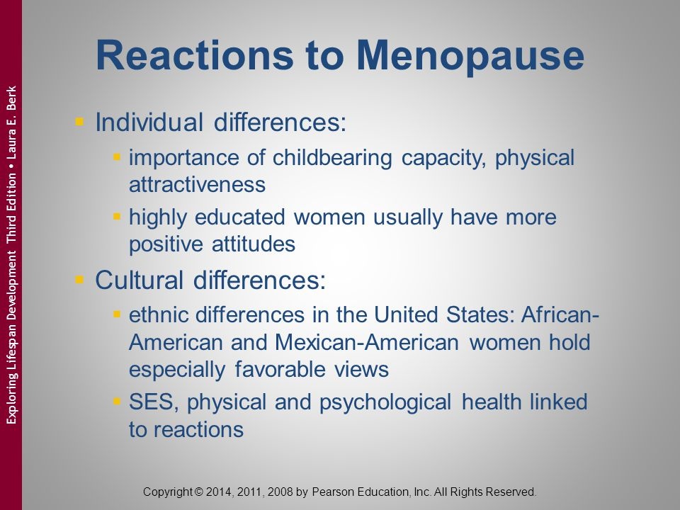Reactions to Menopause