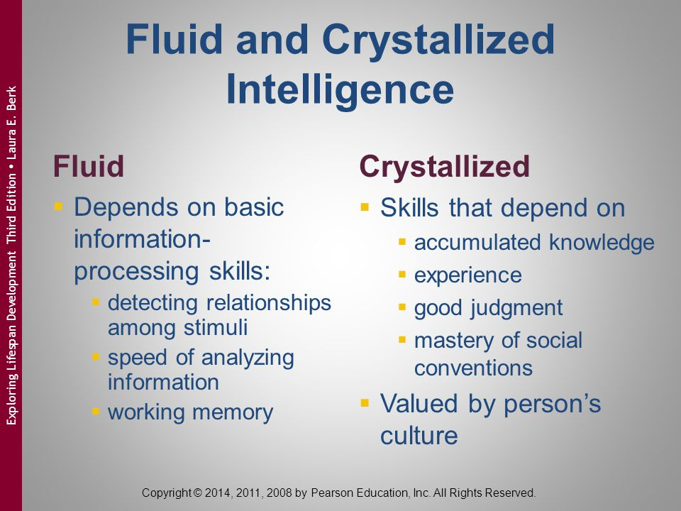 Fluid and Crystallized Intelligence