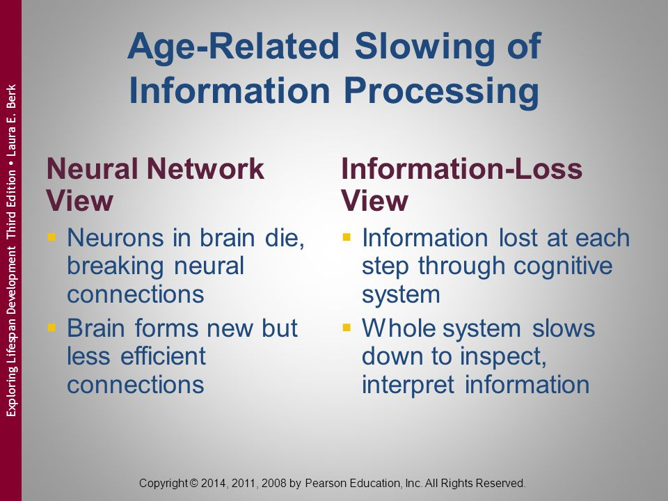 Age-Related Slowing of Information Processing