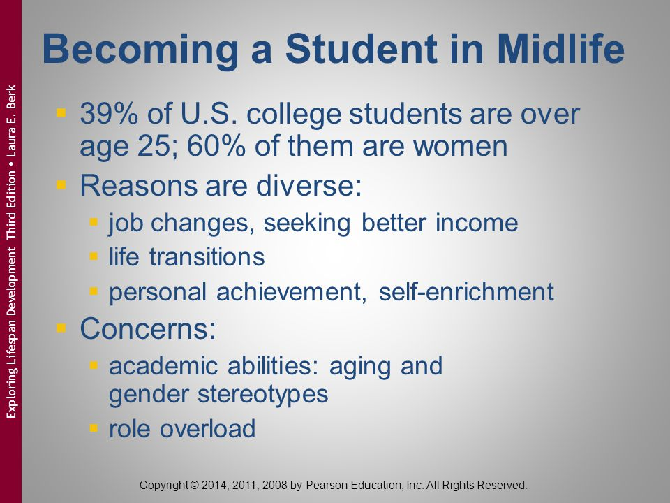 Becoming a Student in Midlife