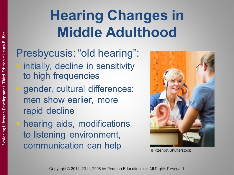 Hearing Changes in Middle Adulthood