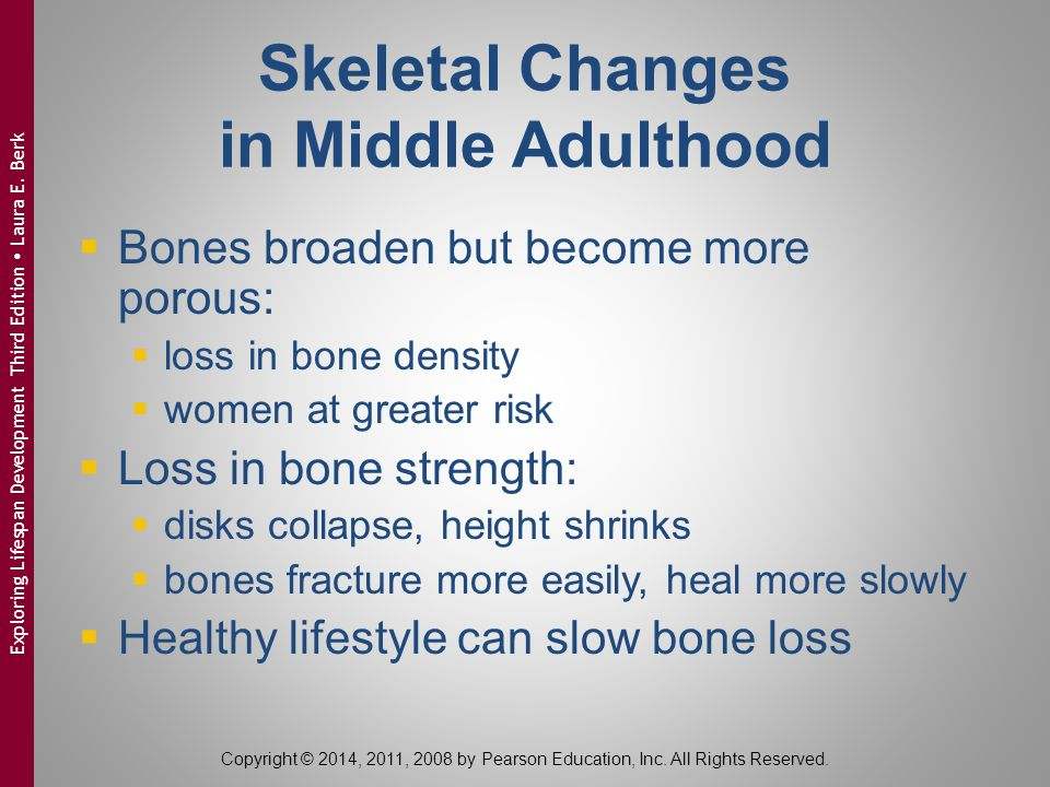 Skeletal Changes in Middle Adulthood
