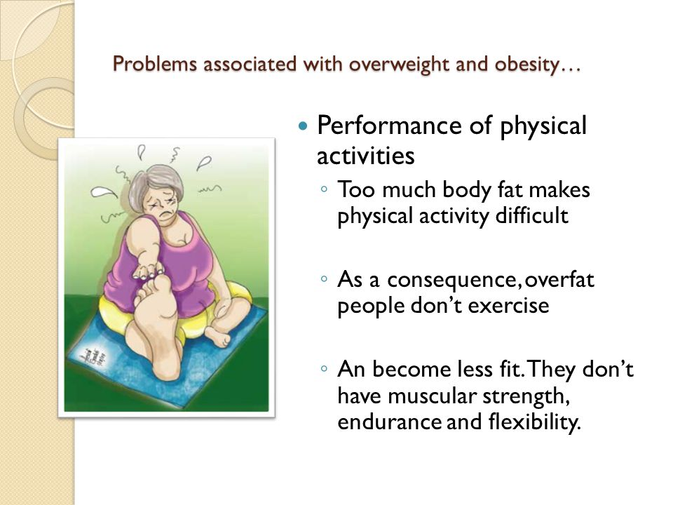Problems associated with overweight and obesity…