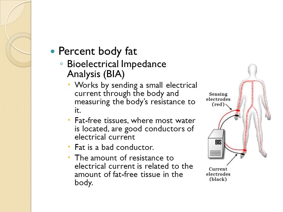 Percent body fat Bioelectrical Impedance Analysis (BIA)