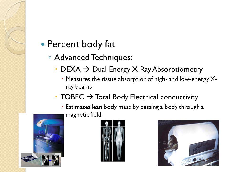 Percent body fat Advanced Techniques: