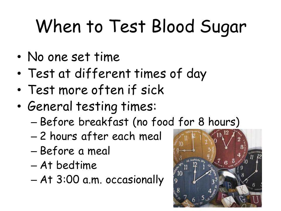 When to Test Blood Sugar