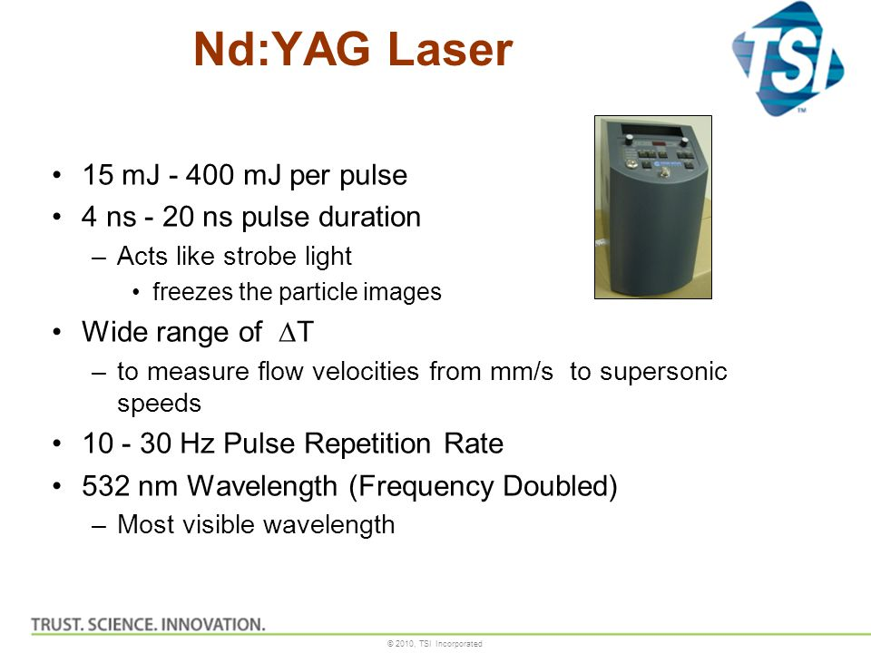 Nd:YAG Laser 15 mJ - 400 mJ per pulse 4 ns - 20 ns pulse duration