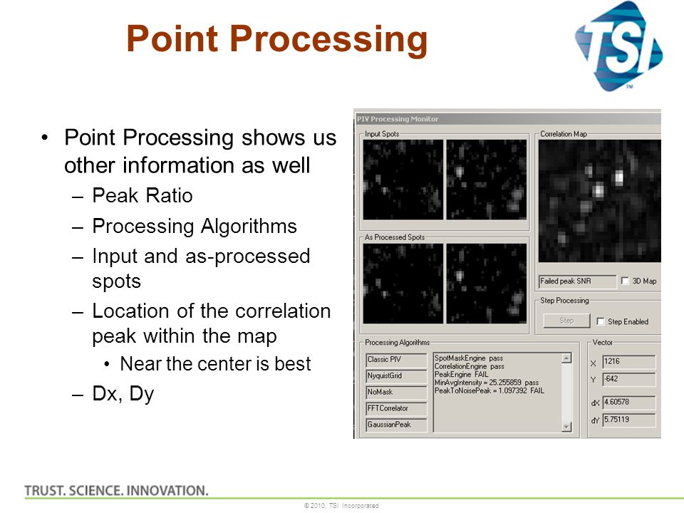 Point Processing Point Processing shows us other information as well