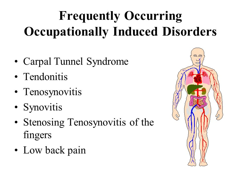 Frequently Occurring Occupationally Induced Disorders