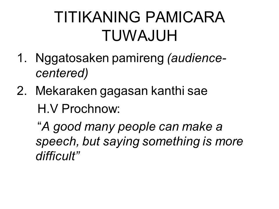 TITIKANING PAMICARA TUWAJUH