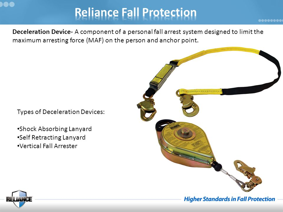Instructor's Notes – Fall Arrest Systems