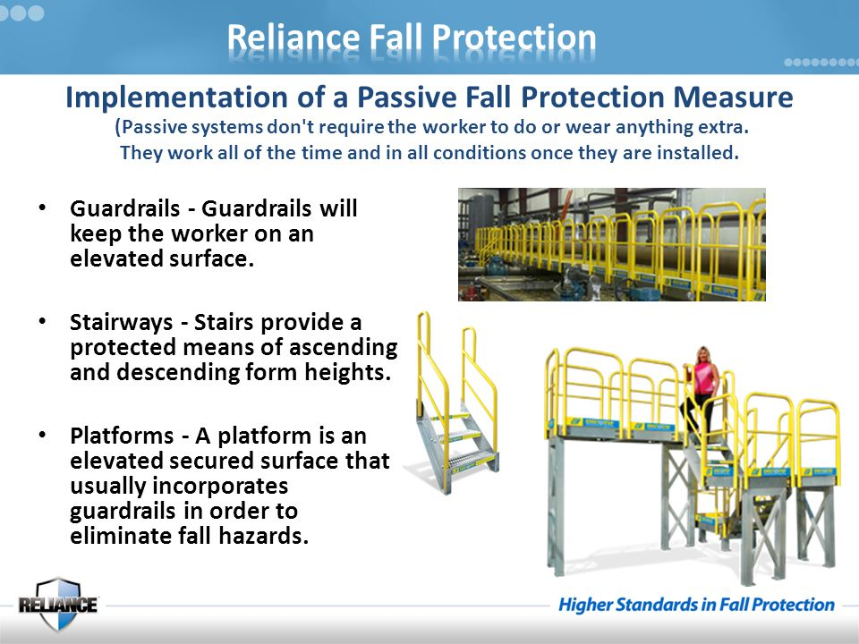 Implementation of a Passive Fall Protection Measure