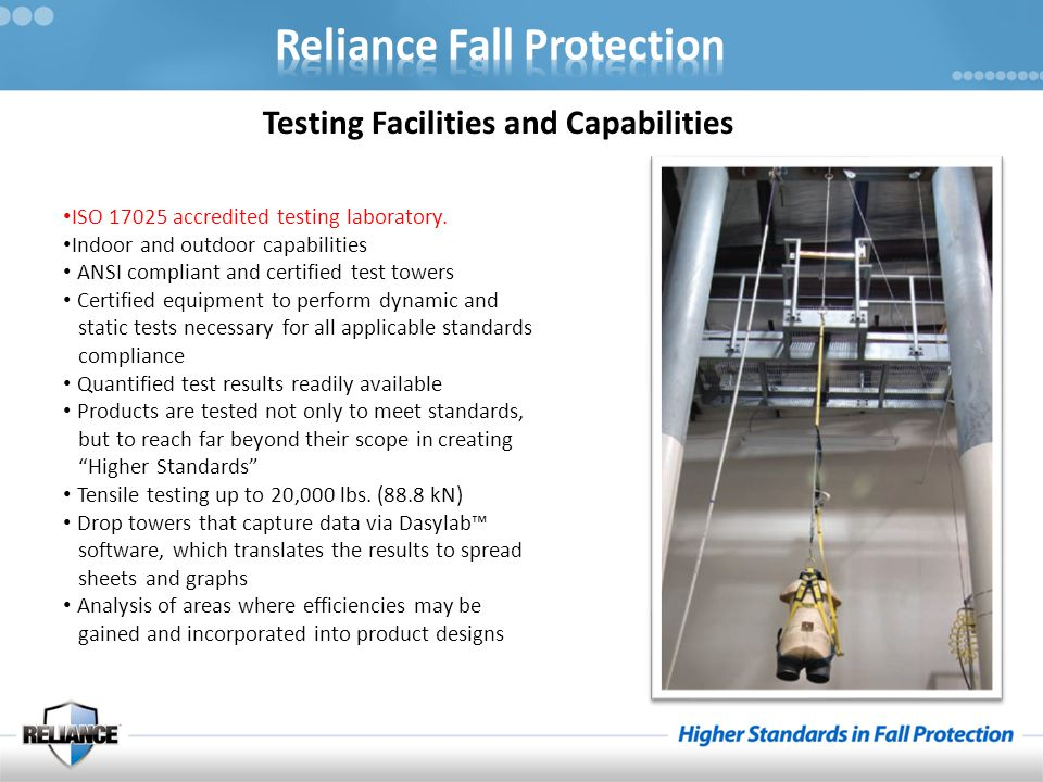 Testing Facilities and Capabilities