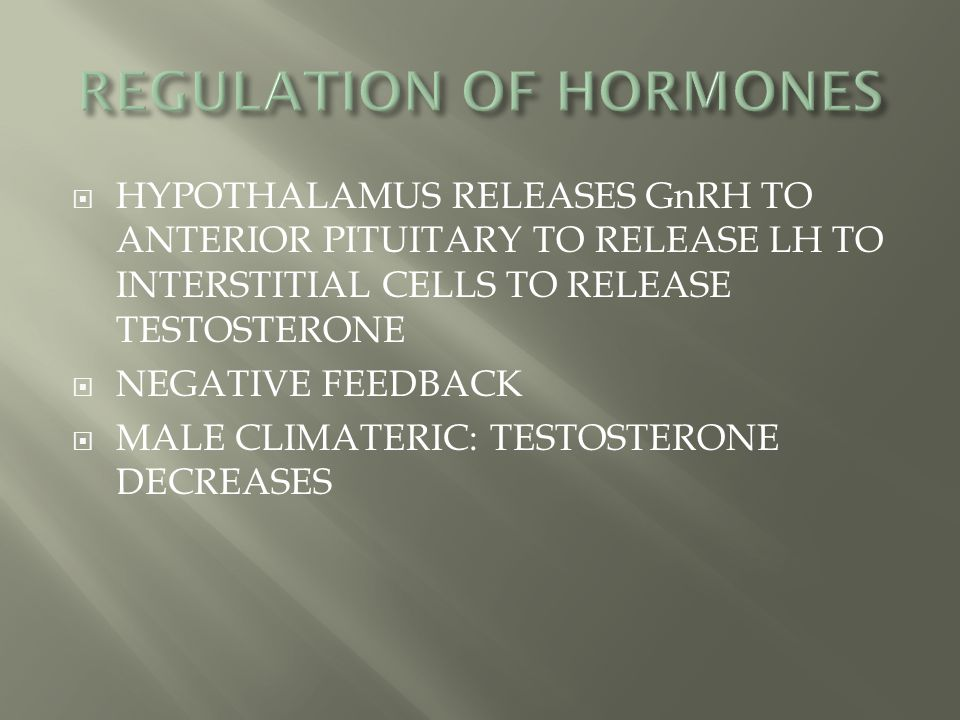 REGULATION OF HORMONES