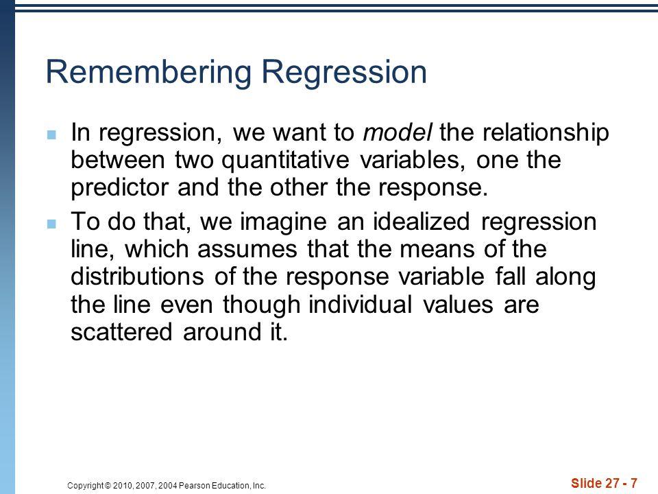 Remembering Regression