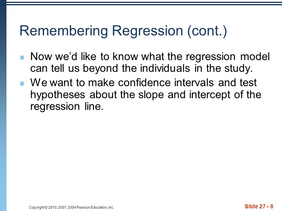 Remembering Regression (cont.)