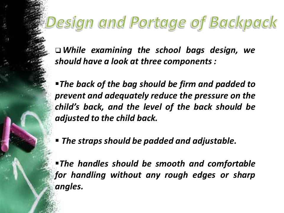 Design and Portage of Backpack