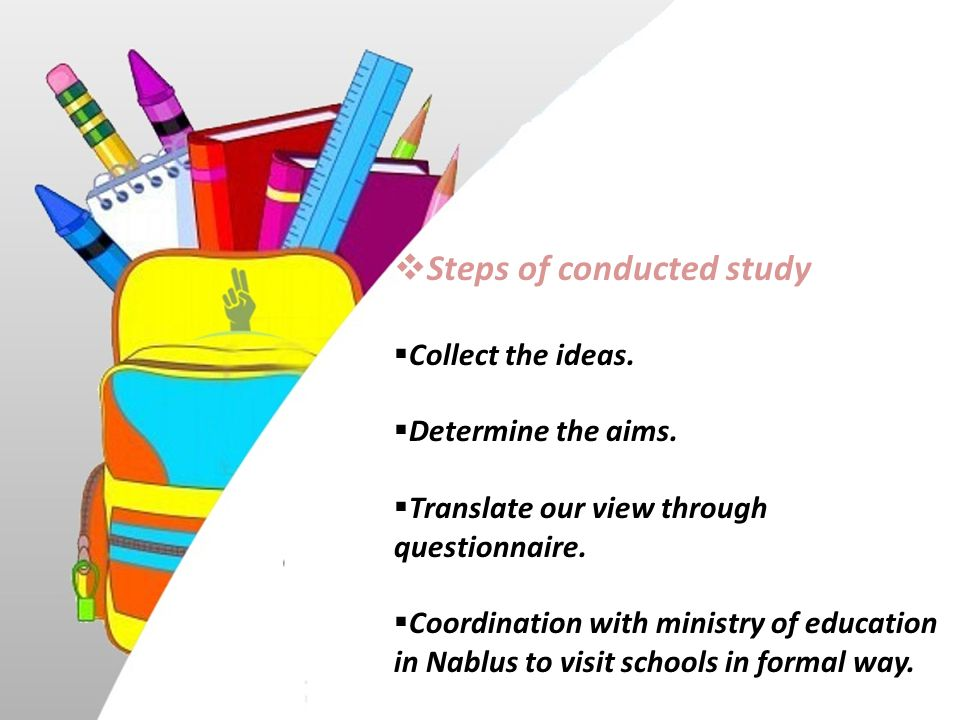 Steps of conducted study