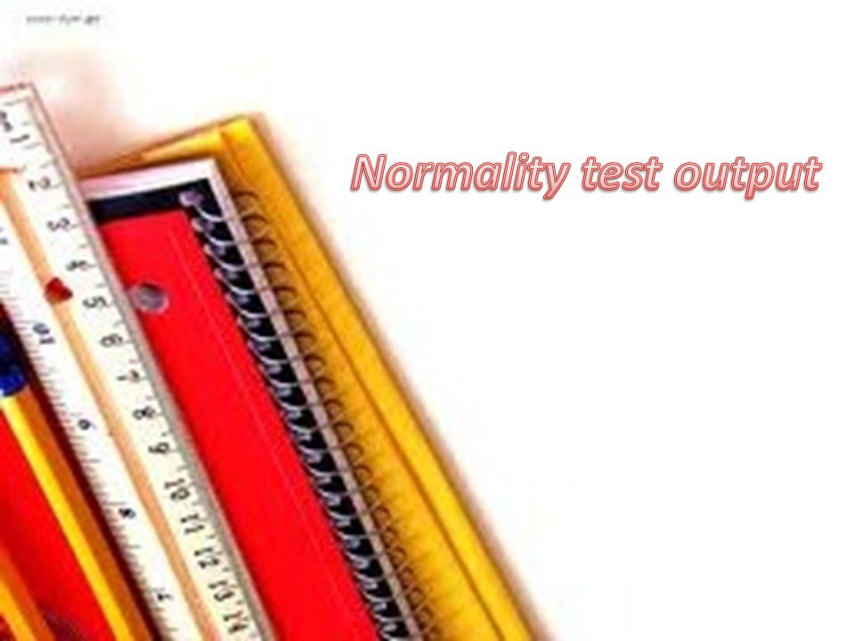 Normality test output