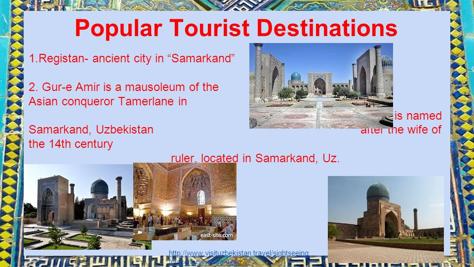 Popular Tourist Destinations