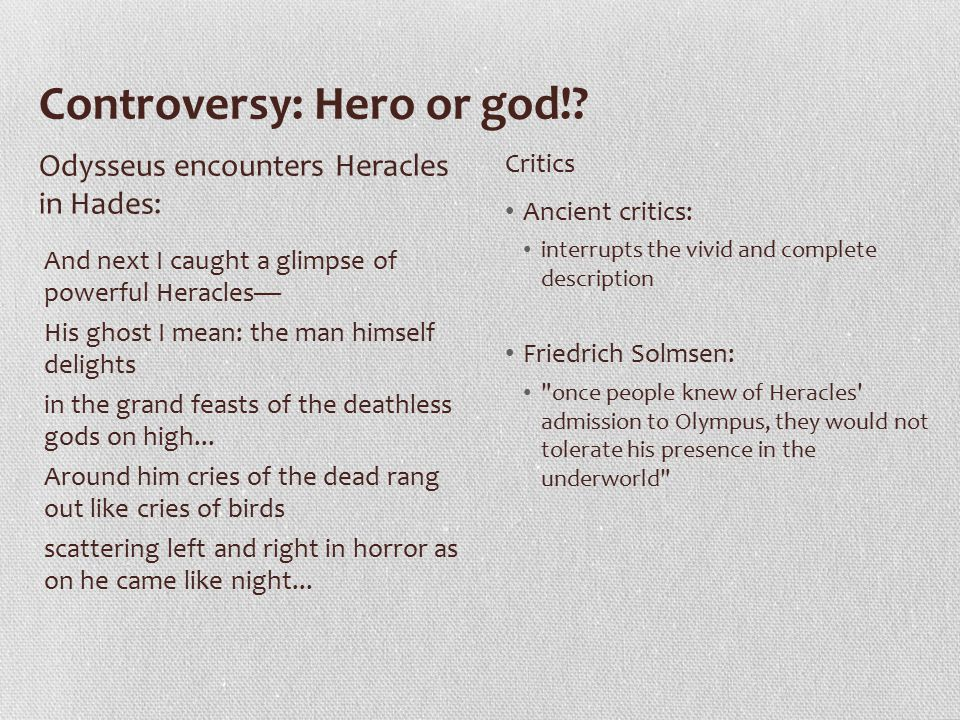 Controversy: Hero or god!