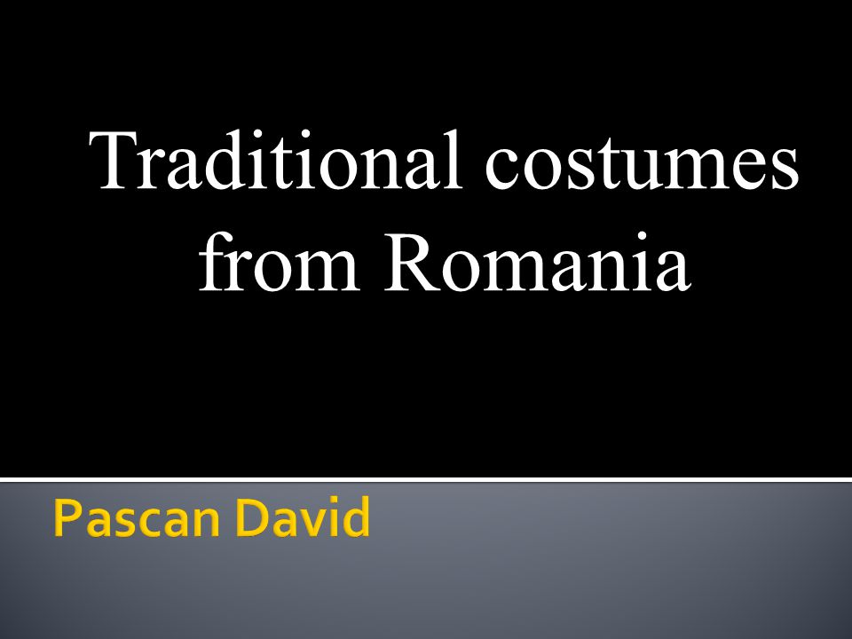 Traditional costumes from Romania