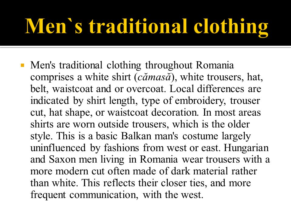 Men`s traditional clothing