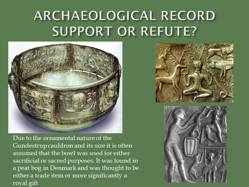 ARCHAEOLOGICAL RECORD SUPPORT OR REFUTE