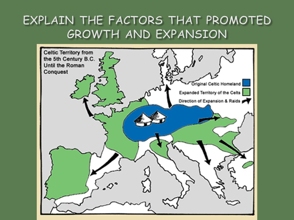 EXPLAIN THE FACTORS THAT PROMOTED GROWTH AND EXPANSION