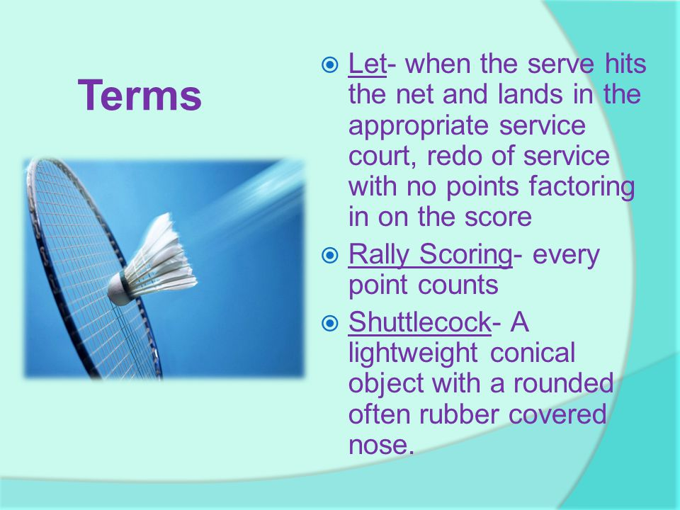 Let- when the serve hits the net and lands in the appropriate service court, redo of service with no points factoring in on the score