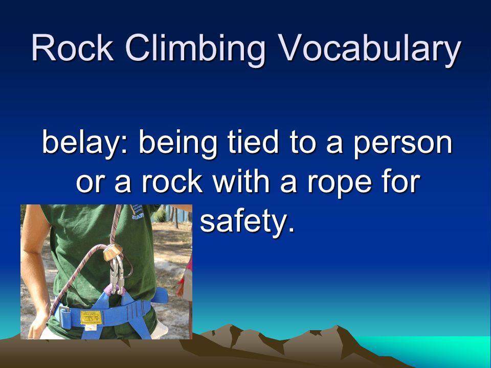 Rock Climbing Vocabulary