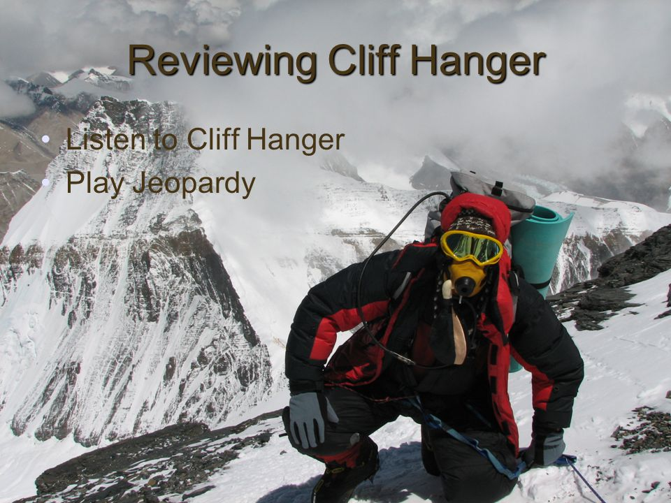 Reviewing Cliff Hanger