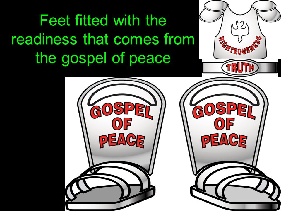 Feet fitted with the readiness that comes from the gospel of peace
