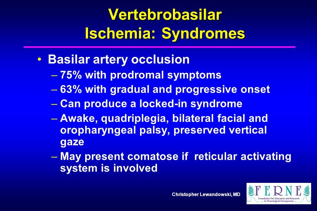 Vertebrobasilar Ischemia: Syndromes