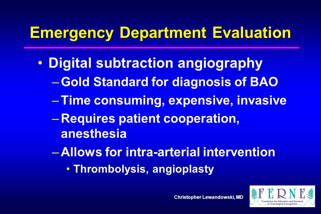 Emergency Department Evaluation