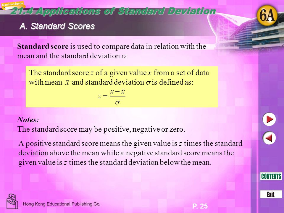 21.4 Applications of Standard Deviation