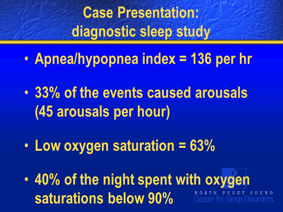 Case Presentation: diagnostic sleep study