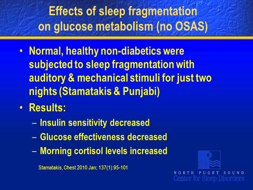 Effects of sleep fragmentation on glucose metabolism (no OSAS)
