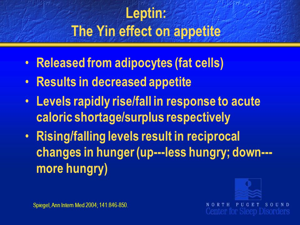 Leptin: The Yin effect on appetite
